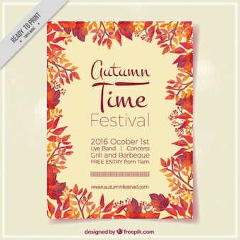 Cartel para el festival de otoño