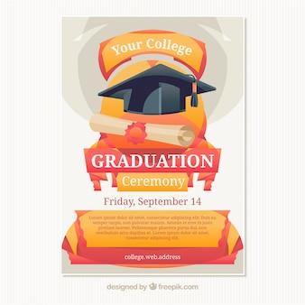Cartel para la ceremonia de graduación