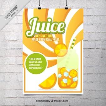 Cartel promocionando zumo de naranja