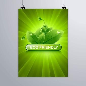 Cartel verde para temas ecológicos