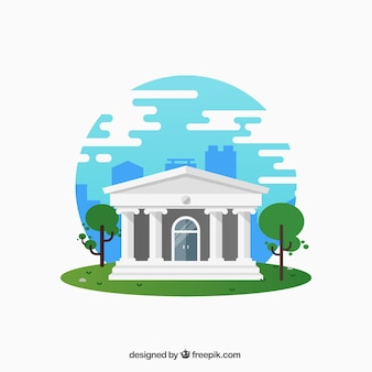 Casa blanca con columnas