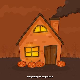 Casa de halloween espeluznante