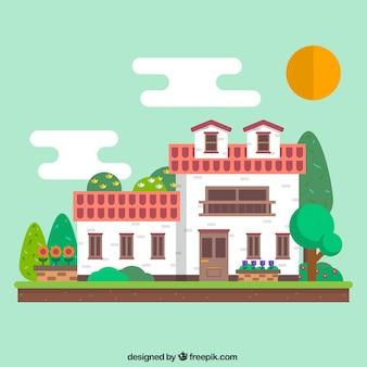 Casa rural geométrica