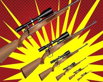 Caza del rifle de gráficos vectoriales