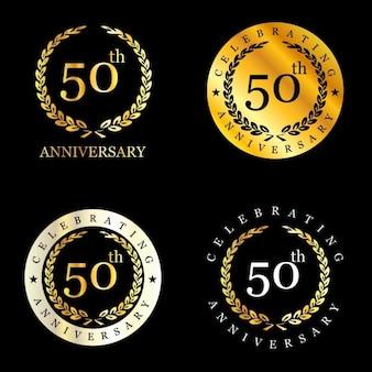 Celebración de 50 años con corona de laurel