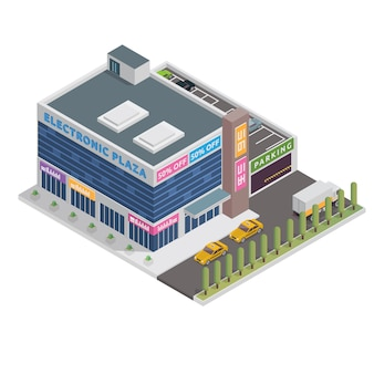 Centro comercial isometrico