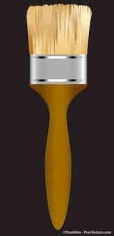 Cepillo de madera marrón