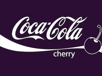Cereza fruta coca cola vector