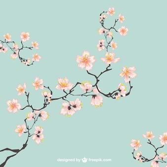 Cerezos en flor ilustración
