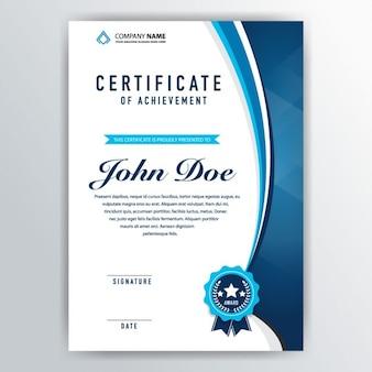 Certificado elegante de reconocimiento