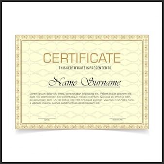 Certificado elegante vintage