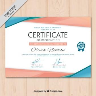 Certificado moderno