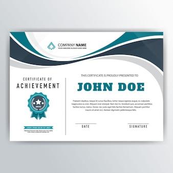 Certificado ondulado de reconocimiento