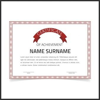 Certificado retro de logro