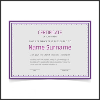 Certificado retro mínimo