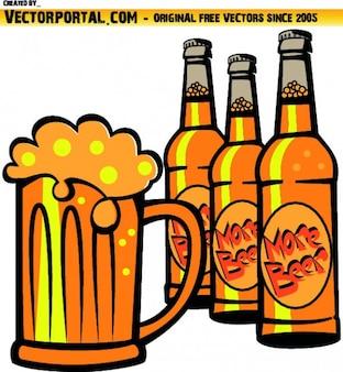 Cerveza fría ilustración vectorial