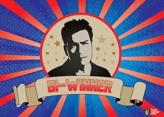 Charlie Sheen bi-ganadora del vector