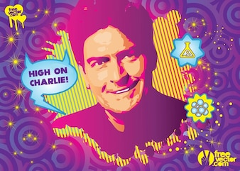 Charlie Sheen drogas vector