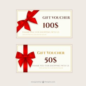 Cheques regalo conjunto