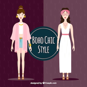 Chicas estilosas con ropa boho