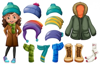Chicas y los diferentes tipos de ropa de invierno