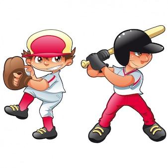 Chicos jugando al baseball