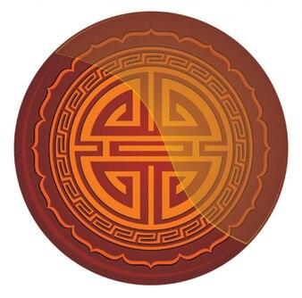 chino oriental icono rojo