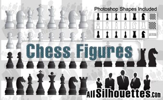 cifras de vectores de ajedrez
