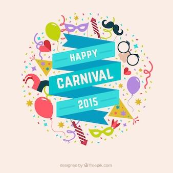 Cinta de feliz carnaval