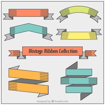 Cintas de colores lineales en diseño plano