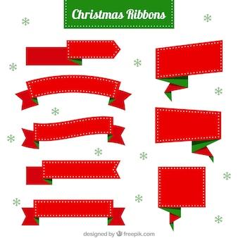 Cintas de navidad fantásticas con detalles verdes