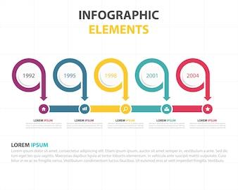 Círculo abstracto círculo negocio infográfico plantilla