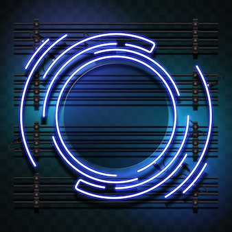 Círculo de luz azul
