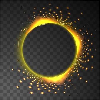 Círculo de luz con destellos