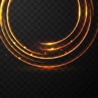 Círculo de neón sobre un fondo negro