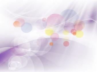 Círculos coloridos remolinos vector de movimiento