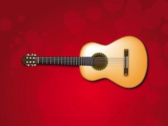 Círculos Guitarra clásica ilustraciones vectoriales