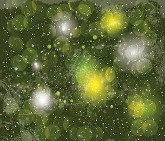 Círculos verdes superpuestas fondo