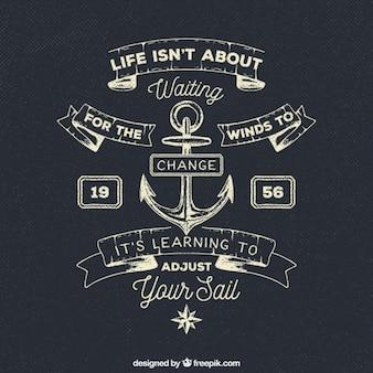 Cita positiva sobre la actitud frente a la vida en estilo marinero
