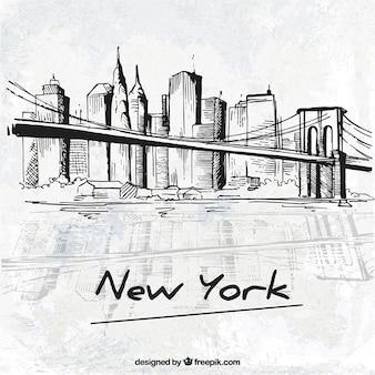 Ciudad de nueva york esbozada
