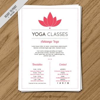 clases de yoga con la flor rosada del volante horarios