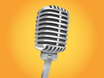Classic micrófono vector tecnología de voz