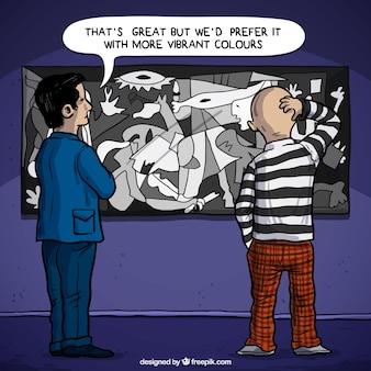 Cliente criticar Guernica de Picasso