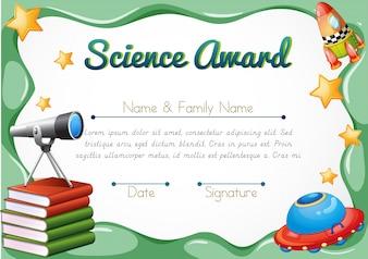 Clip de certificado de marco de reconocimiento de honor
