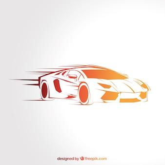 Coche deportivo de velocidad