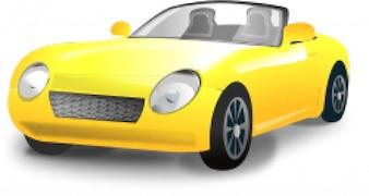 coche deportivo descapotable amarillo
