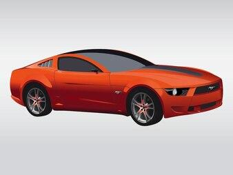 Coche deportivo rápido vector automovile