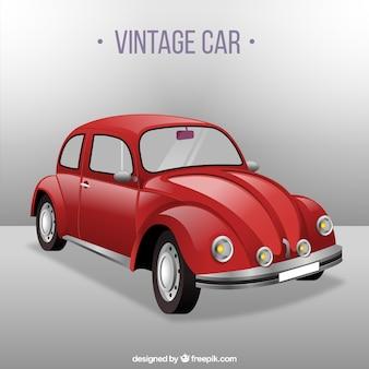 Coche rojo vintage