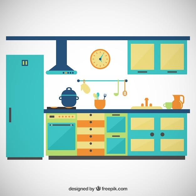 cocina de colores