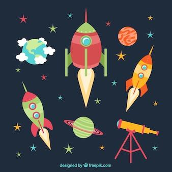 Cohetes de dibujos animados